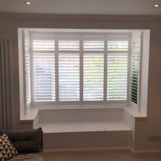 Shutters added to a window