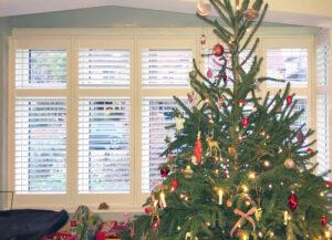 Christmas shutter installation