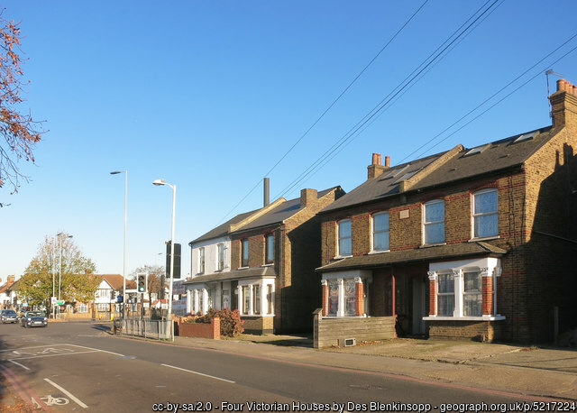 Victorian houses in Hounslow